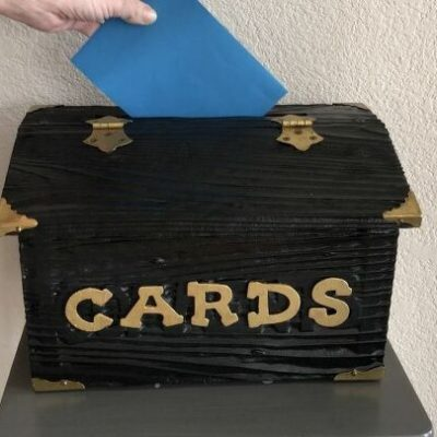 All Occasion Card Box Upcycle (8) placing card in the box