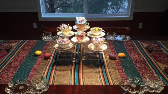 Serving Centerpiece with Teacups