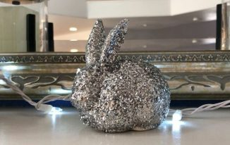 Thrift Store Glitter Bunny Upcycle