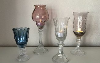 Upcycled Thrift Store Candle Holders