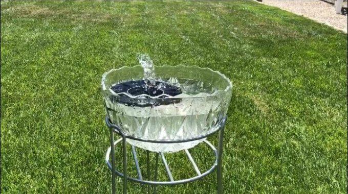Easy Solar Fountain For Your Yard