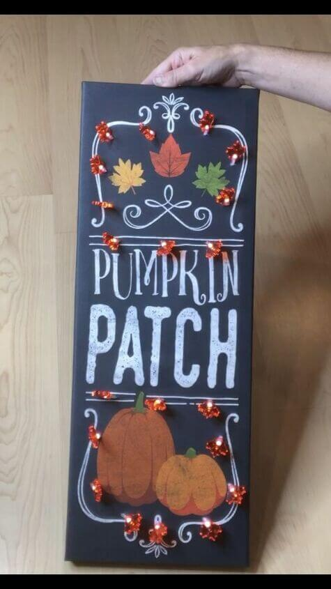 Light Up Fall Canvas Wall Art Sign