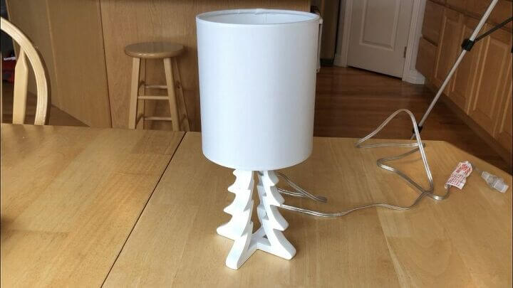 Here is the lamp I got on clearance at Target for $4.