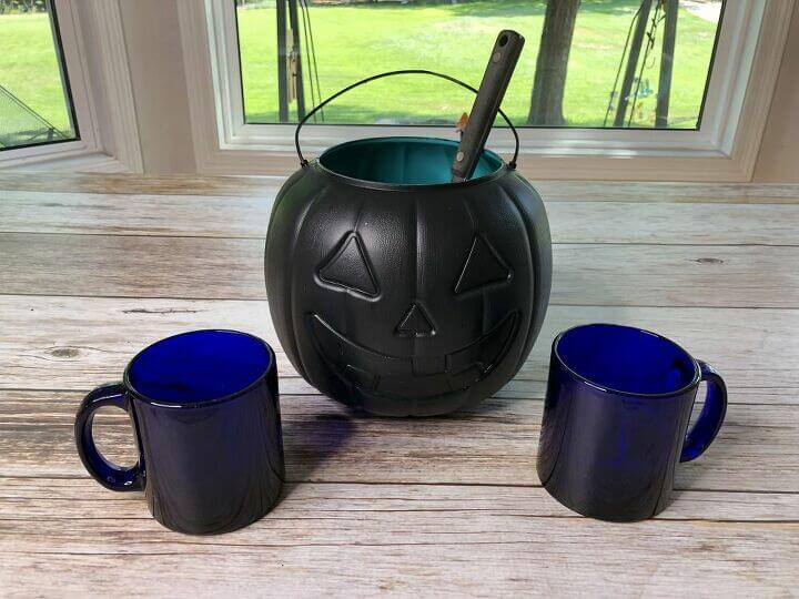 I used it to serve cold apple cider. You could use the back side of him and write words with chalk of what you're serving.