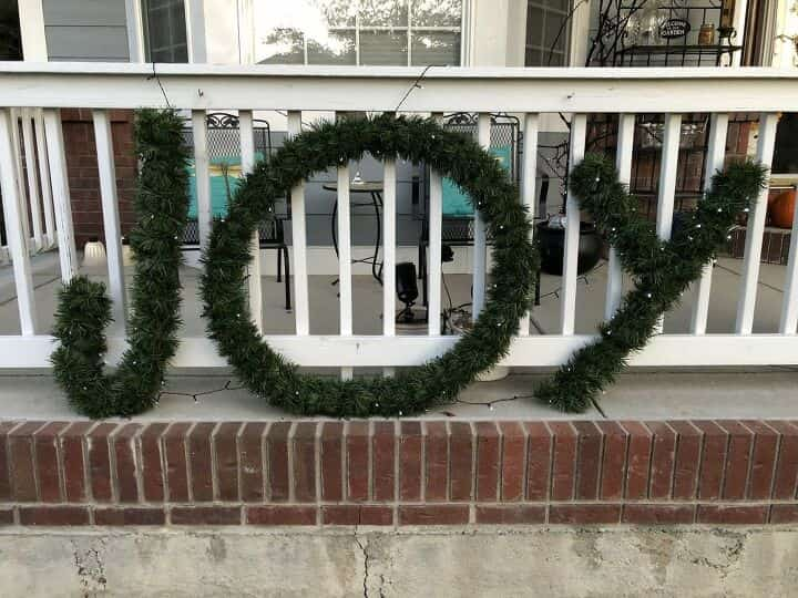 I used the extra lights to hold the letters into place on my railing.