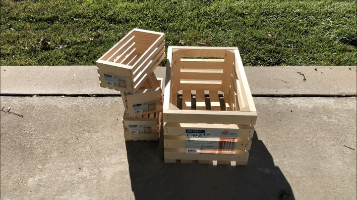 I bought one large crate and 3 small crates from Walmart.