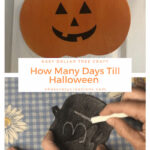 How many days till Halloween? With a little dye and paint, I created a fun Halloween Countdown Calendar with items from Dollar Tree