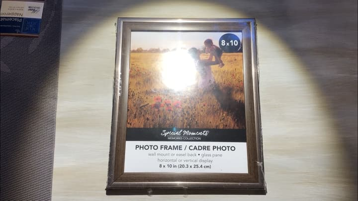 I started with a frame I got from the dollar store, but you could easily use one you have or even pick up one from the thrift store.