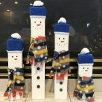 Depending on where you are putting these snowmen you might want to put a sealer them. I love how they turned out!