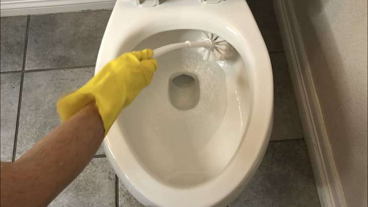 Scrub your toilet and flush.Want to see my post on How To Clean Your Toilet From Top To Bottom? https://chascrazycreations.com/how-to-clean-your-toilet-from-top-to-bottom/