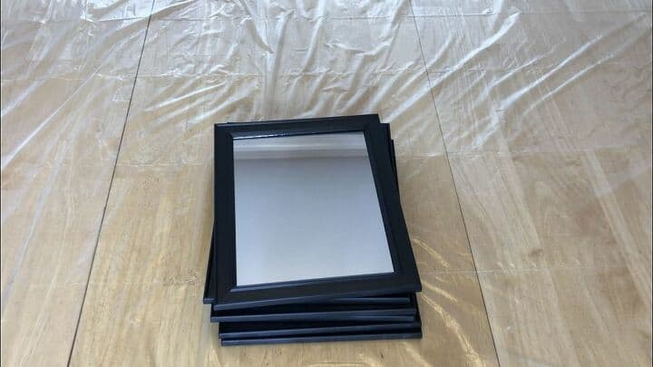 I started with 6, 8x10 mirrors from Dollar Tree.