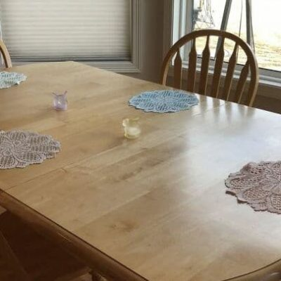 You can also use them as placemats if you have larger doilies.