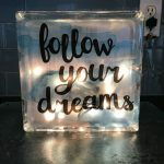 Here's the completed night light and I love it. Place this anywhere in your home and share the inspiration.