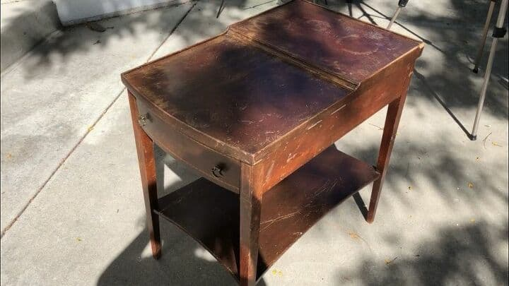 Here's the original side table - clearly it had been well used and needed a little love.