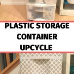I'm sharing an easy and inexpensive way to upcycle storage containers. You can hide what's inside and give it a face lift at the same time.