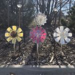 When Hometalk asked me to create garden dish flowers for Hometalk TV, I was so excited! These are super easy to make, no drilling required, you can use repurposed or thrift store dishes, and they look great in your yard!