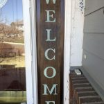 Once the sign was dry, I put it on my front porch for display.