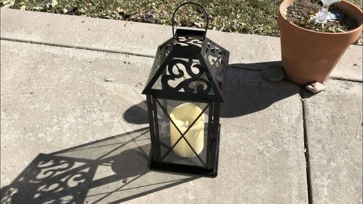 Here is the original lantern. It was full of cobwebs, and in need of being cleaned.