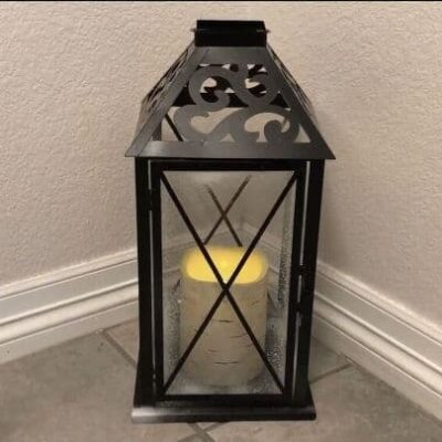I found this old lantern at a thrift store, and with a little love I turned I revamped it. I also found a way to change it up every season with a fun new twist. I'll show you how I updated this lantern and it's yellowing candle.