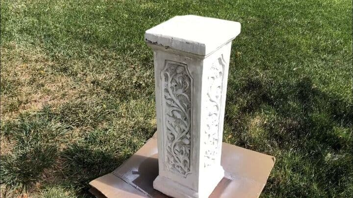 Here's an old column a friend gave me. The first thing I did was power wash it to clean it and remove all of the chipping paint.