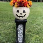 Option 2 - I added faux flowers in the pumpkin for a beautiful fall display.