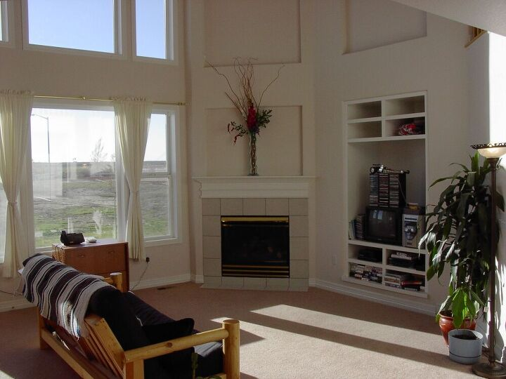 This is the living room in the home we know live in. The photo was taken before we moved in.