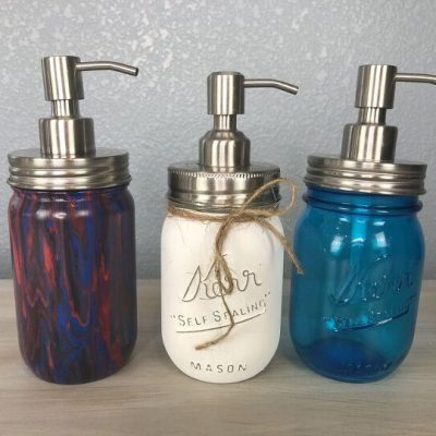 Did you know you can make your own hand soap dispenser? I'm going to show you a few ways I made them using a mason or recycled jar! This is a fantastic and useful DIY gift idea that everyone needs.