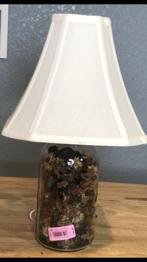 I found this fun mason jar lamp at a local thrift store for $4.99!