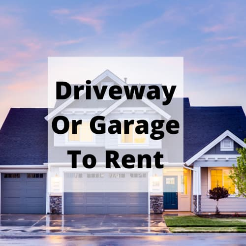 What can you do with your empty garage? Looking to earn some extra income? You might be able to post your driveway or garage for rent.