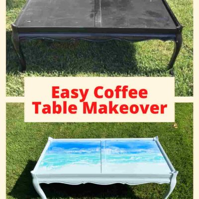 Have you wondered how do you make a coffee table look new? Or maybe how to paint an old coffee table? I'm going to share how I did my coffee table makeover with a $5 garage sale table.
