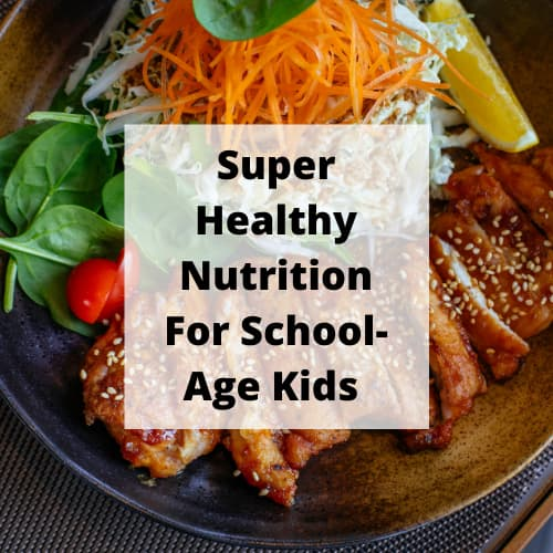 What are healthy nutrition needs of a school age child? In this post we'll be covering 4 things children need to grow, help brain development, have energy, and more.