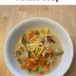 Do you want a super easy cheddar potato soup? Me too! I'm sharing how I made this recipe in my Instant Pot, it was delicious and my family gobbled it right up.