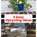 Do you want upcycling ideas for your garden? Here are 5 inexpensive ways you can upcycle things for your yard.