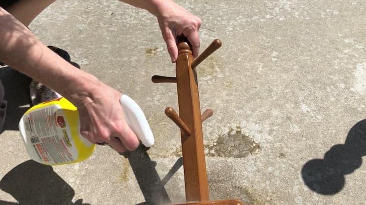 Start by spraying Krud Kutter onto your piece, and then wiping it with a clean rag. This will remove oils, dirt, debris, sticky residue, etc.