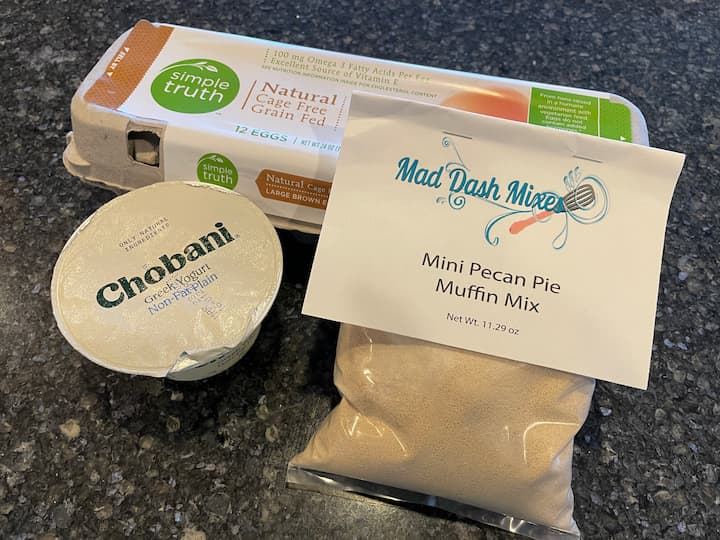 Pecan Pie Mix from Mad Dash Mixes Non Fat Plain Greek Yogurt Eggs