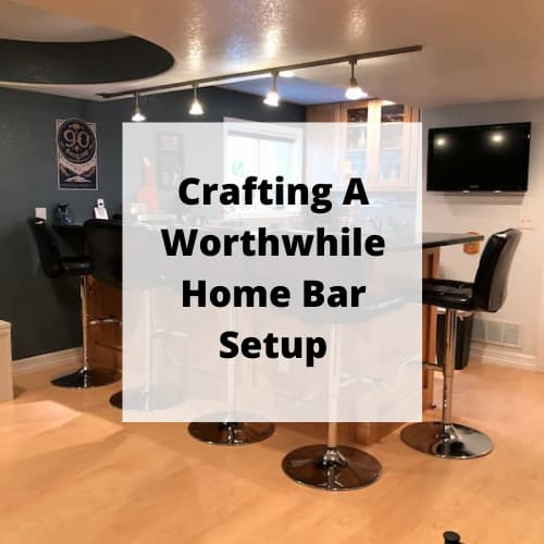 When we finished our basement we wanted a home bar setup. Here are some of the things we considered while designing the space.