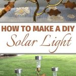 Make creative candle holder solar light decor using thrift store finds. You can usually find them for a really good price.