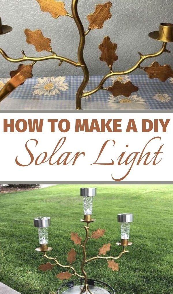 before and after solar light candle holder