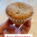Do you want a great cinnamon muffin recipe? These muffins are so easy to make, they're delicious, and they reminded us of friendship bread.