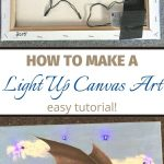 Learn how to make a DIY light up canvas art for your kids, or as a gift for Christmas, or birthdays. It's an easy craft project, and really fun to make.