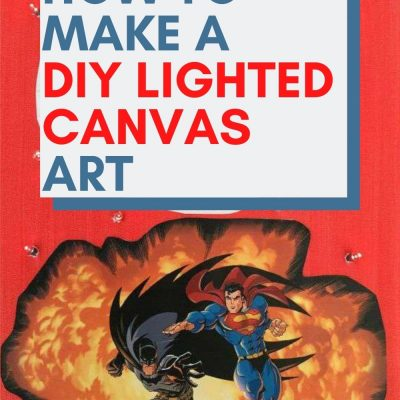 light up canvas art marvel with text overlay