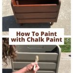 Have you wanted to know how to paint with chalk paint? I painted a magazine rack from a thrift store and I'm sharing some bonuses too!