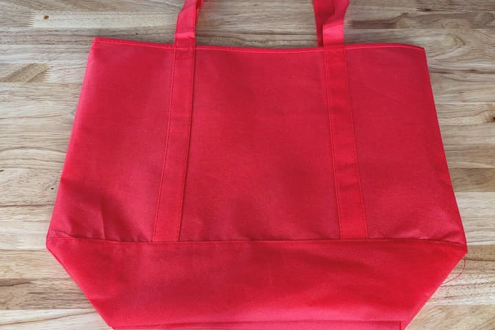 I purchased this bag for this project. These kind's of bags are great for reusable grocery bags, gift bags, tote bags for going places, etc. This can be adapted to personalize any type of fabric bag, clothing, etc.