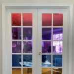 Are you looking for a privacy window film? We needed this for our French doors at home and I created an easy and temporary faux stained glass look on a budget!
