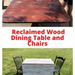 Do you want a reclaimed wood dining table without the high cost? You can add a little paint to some old furniture and create a reclaimed wood look on a budget.