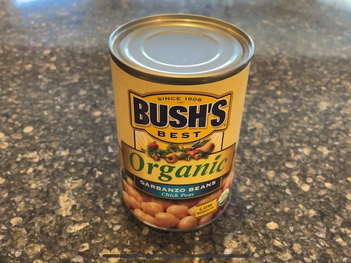 1 can garbanzo beans Olive Oil Salt & Pepper