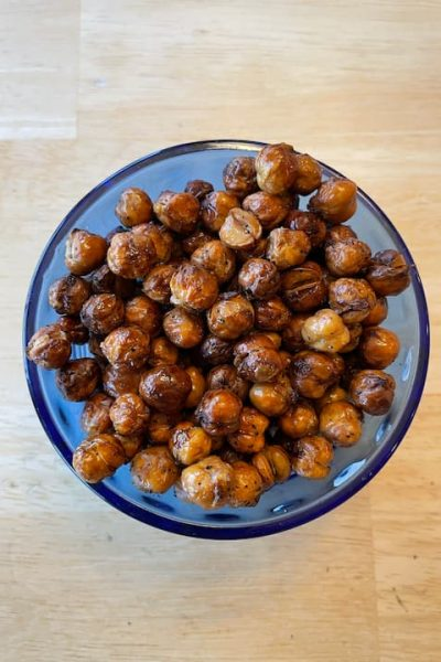 Check out my easy air fried chickpeas recipe and I have a video to share too! If you don't have an air fryer, no problem you can just bake them in the oven!