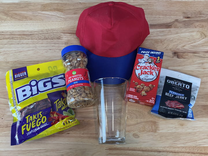 MATERIALS NEEDED TO MAKE A BASEBALL OR SPORT THEMED GIFT