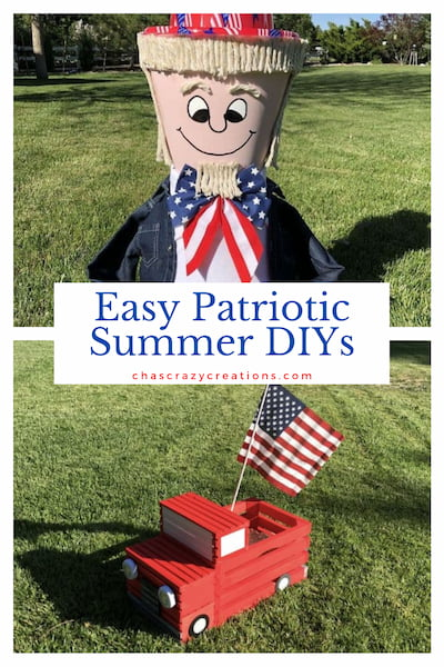 Do you want easy patriotic summer diys? I have a few projects and you'll love that they can be kept up all season long.