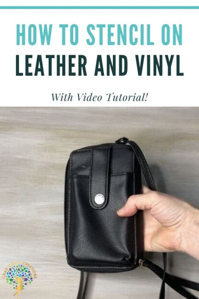 Learn how to stencil on leather and vinyl with this easy DIY tutorial. You can take an item found at the store and give it extra detail!
